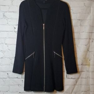 Eva Varro Black Long Sleeve Zippered Dress